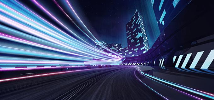Illuminated highway