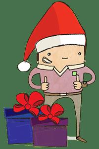 Ready Steady Store mascot Christmas edition