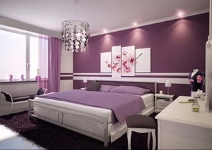 feng shui bedroom purple