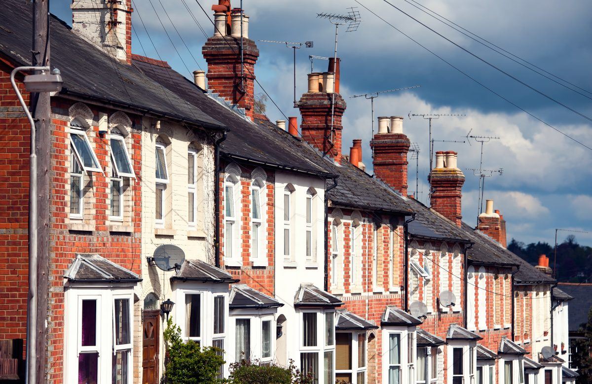 A row of houses in the UK benefiting from a stamp duty holiday