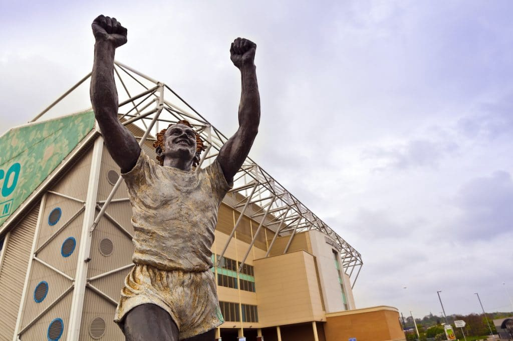 Statue outside Elland Road stadium, Leeds